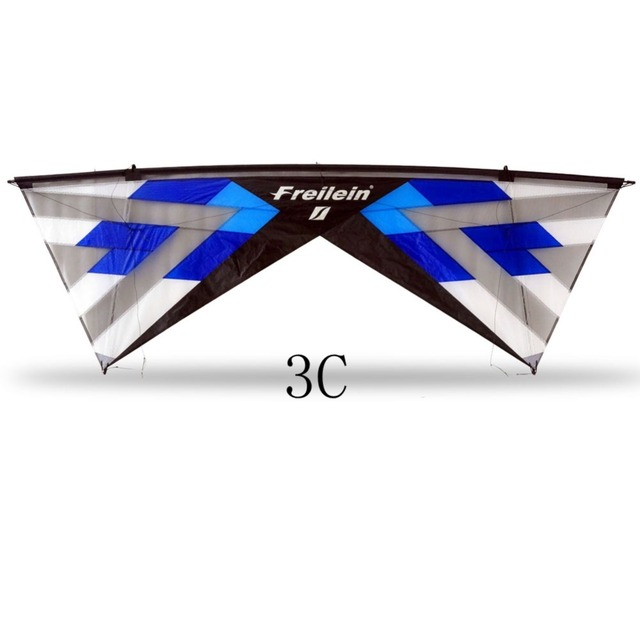 Quad Line Stunt Kite for Adults Flying Outdoor Sport 16 Colors X Vented Beach Kite With 25M Flying Line and Handles