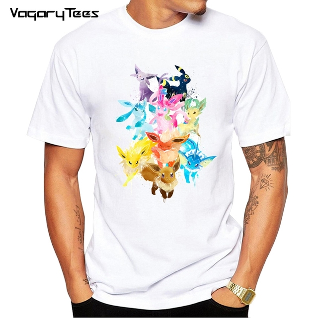 9186ff9e4f6 Hot new Eevee Family T Shirt Men s Women s Short Sleeve Unisex Men O-Neck  White T-shirts Tee Shirts Tops