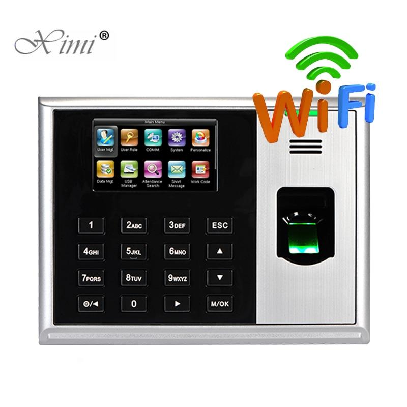 ZK S30 Biometric Fingerprint Time Attendance WIFI TCP/IP Fingerprint Time Clock Linux System Fingerprint Reader Time Recording