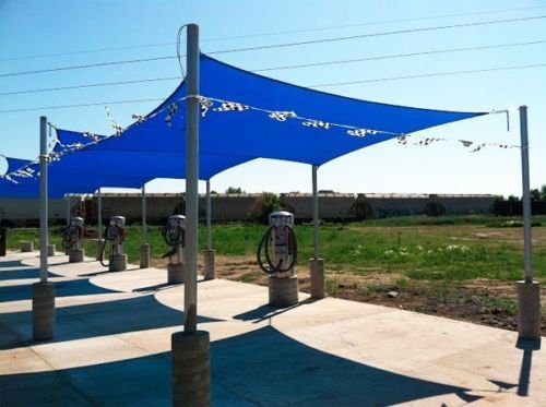Square Sun Shade Sail Patio Deck Beach Garden Yard Outdoor Canopy Cover 16x16 Blue In Sails Nets From Home On Aliexpress