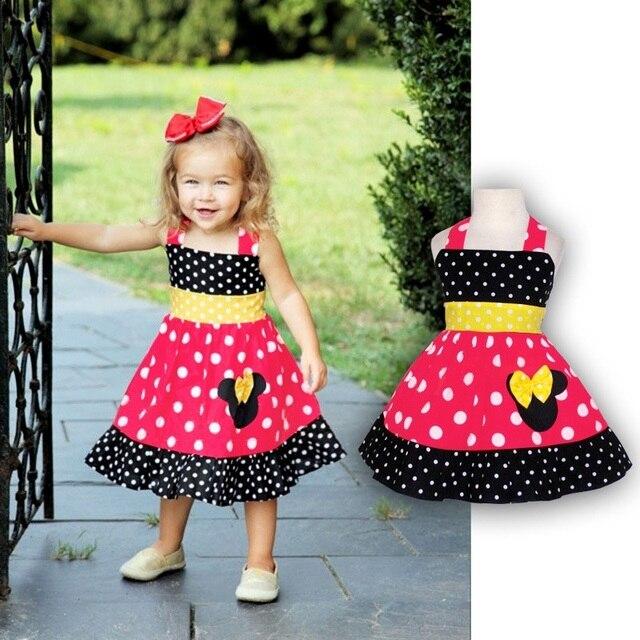 0915f79b6 2016 niñas bebés vestidos corsé rojo vestido de tirantes de dibujos  animados bebé ropa bebe dress