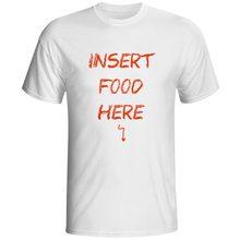 Insert Food Here To My Stomach T-shirt Hand Drawn Crayon Style Print Funny Pop T Shirt Rock Design Punk Women Men Top Tee