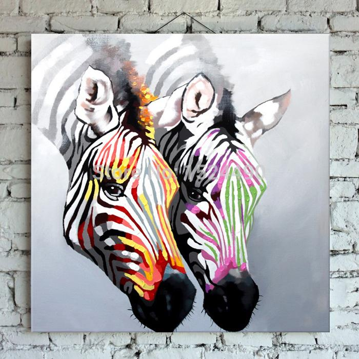 Aliexpress.com : Buy Hand made Abstract Zebra Oil Painting On ...