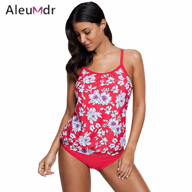 6e09715587 Aleumdr Plus Size Swimsuit Women 2018 Print Tankini 2pcs Bathing Suit Beach  Wear Swimwear LC410449 Traje De Bano Mujer free shipping worldwide