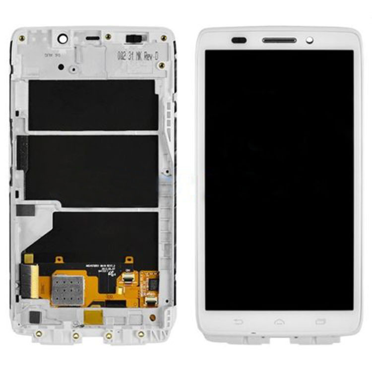 White LCD Screen+Touch Glass Digitizer Assembly+Frame For Motorola Droid Ultra XT1080 MAXX 1080M