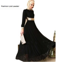 2018 fashion muslim adult Sequins abaya Arab Fashion Turkey Middle East beading Dresse Musical Robe Ramadan wj1039 free shipping