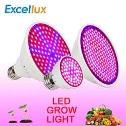 LEDs Wachsen Licht E27 85-265 V 60/126/200 LEDs Gesamte Spektrum Indoor-Anlage Lampe LED für Pflanzen Blume Hydrokultur-system Pflanze Licht