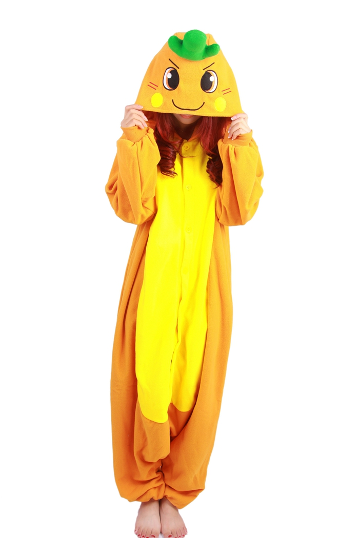 Unisex Fleece Adult Carrot Onesies Animal Cosplay Costume Halloween Xmas Pajama