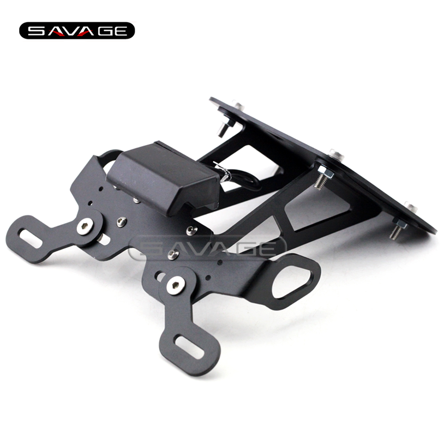 For YAMAHA YZF R25 R3 YZF-R3 YZF-R25 Motorcycle Fender Eliminator Registration Plate Bracket License Plate Holder LED Light motorcycle cnc aluminum mudguard rear fender bracket license plate holder light for yamaha yzf r25 r3 yzf r25 yzf r3