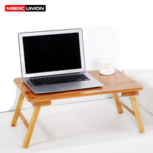 cc8c5c737 MAGIC UNION bambú cama escritorio de la computadora mesa plegable Mesa  portátil multiuso pequeño escritorio pequeña