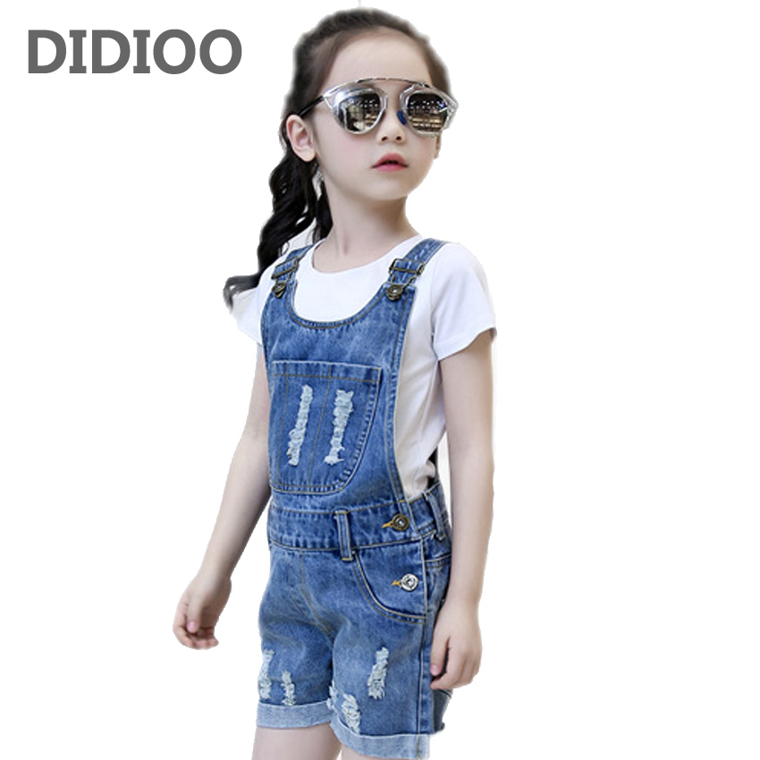 Teenage Girls Outfits Summer Clothing Sets For Girls Tees & Overalls Cotton White T-Shirts For Girls Denim Pants Shorts Jeans 2017 sexy women shorts new fashion summer denim cotton short pants low waist stretch mini super jeans shorts clubwear for girls