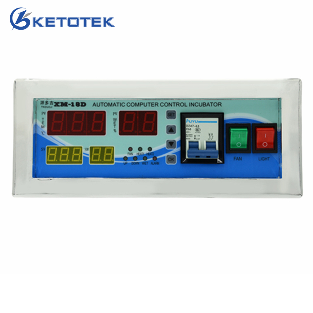 Automatic Egg Incubator Controller Intelligent Thermostat Hygrostat Temperature Humidity Controller AC 160-240V 50Hz intelligent pid temperature humidity controller lcd display multifunction automatic egg incubator controller with two sensors