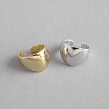 HFYK 2019 Simple Glossy Gold Silver Clip Earrings For Women 925 Sterling Silver Earrings Jewelry Ear Cuff Clip On Earrings pinksee hot korean chic gold silver color star ear bone clip on ear cuff clip earrings for women jewelry gifts