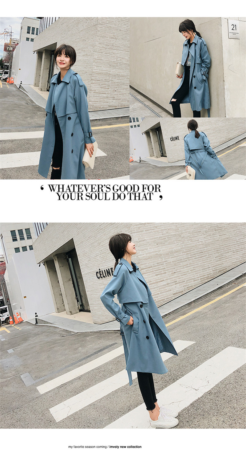 Women's-Spring and Autumn Coat-Chic-Loose Lady-Long