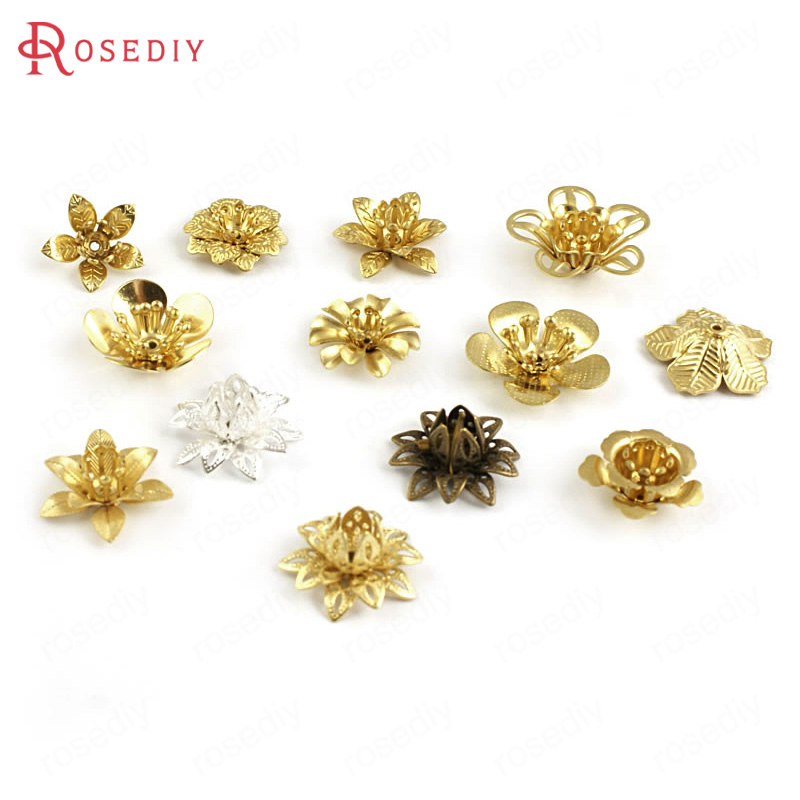 Able 20pcs 3d Flowers Plum Flower Beads Caps Spacer Diy Jewelry Findings Accessories More Styles Can Picked Nourishing The Kidneys Relieving Rheumatism 27166