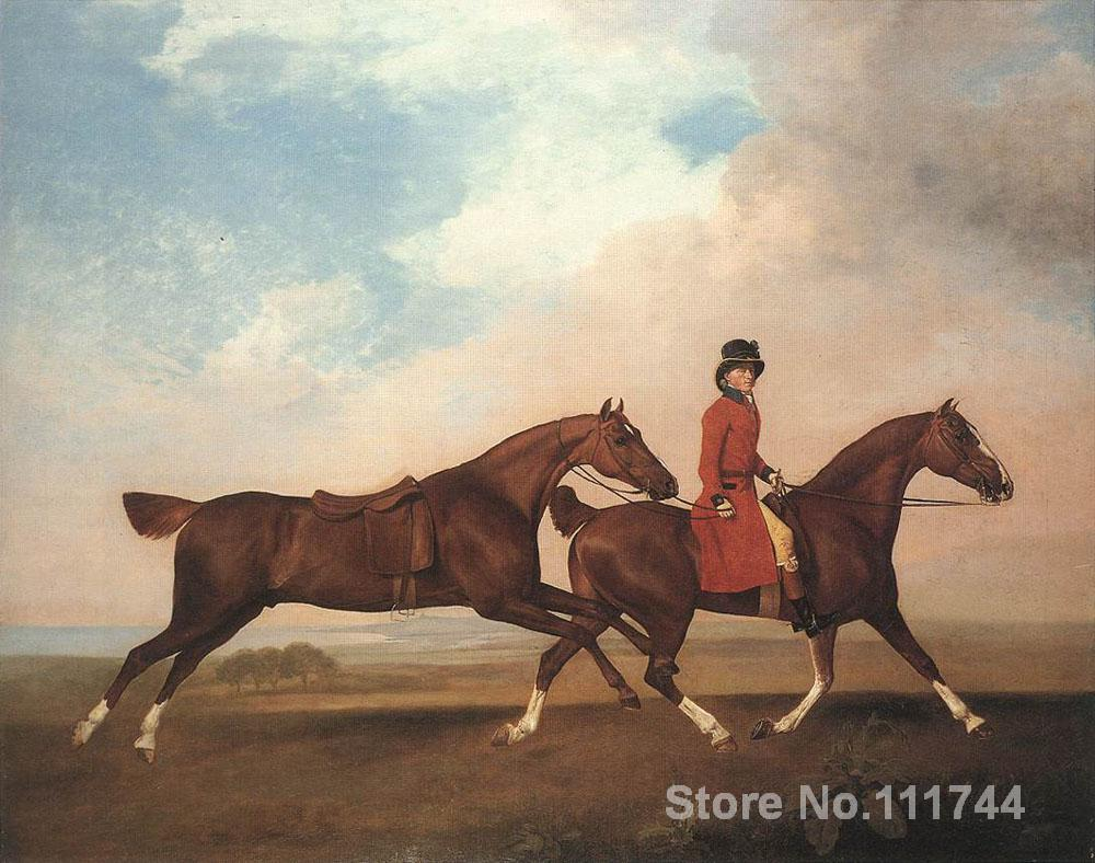 William Anderson with two saddle horses by George Stubbs famous landscapes art home decor High quality Handmade