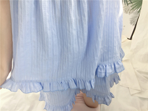 Image 5 - 2018 Cute Sweet Solid 3 Colors Homewear Pajamas Women Girls Pajama Set Camis Elastic Waist Shorts Cotton Lounge pyjamas S85321