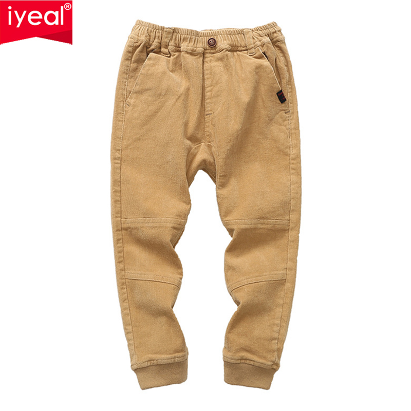 IYEAL Boys Pants Cotton Long Casual Pants Boys School Pants New Spring Autumn Casual Sports Trousers Teenage 8 10 12 Years spring 2018 baby boys jeans teenage girls pants for boys pants cotton long casual pants school children kids sport trousers