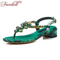 FACNDINLL High Quality Women Gladiator Sandals Shoes Sweet Flip Flops High Heels Shoes Woman Dress Party