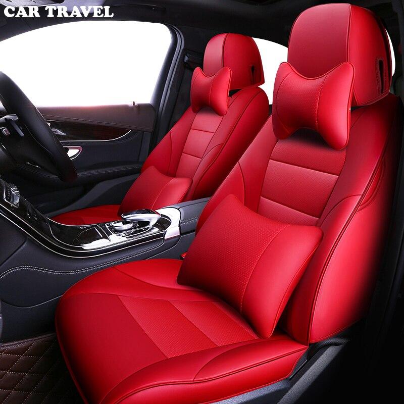 AUTO di VIAGGIO in pelle Personalizzati copertura di sede dell'automobile per audi a3 8 p 8l sportback A4 A6 A5 Q3 Q5 Q7 accessori copre per sedile del veicolo