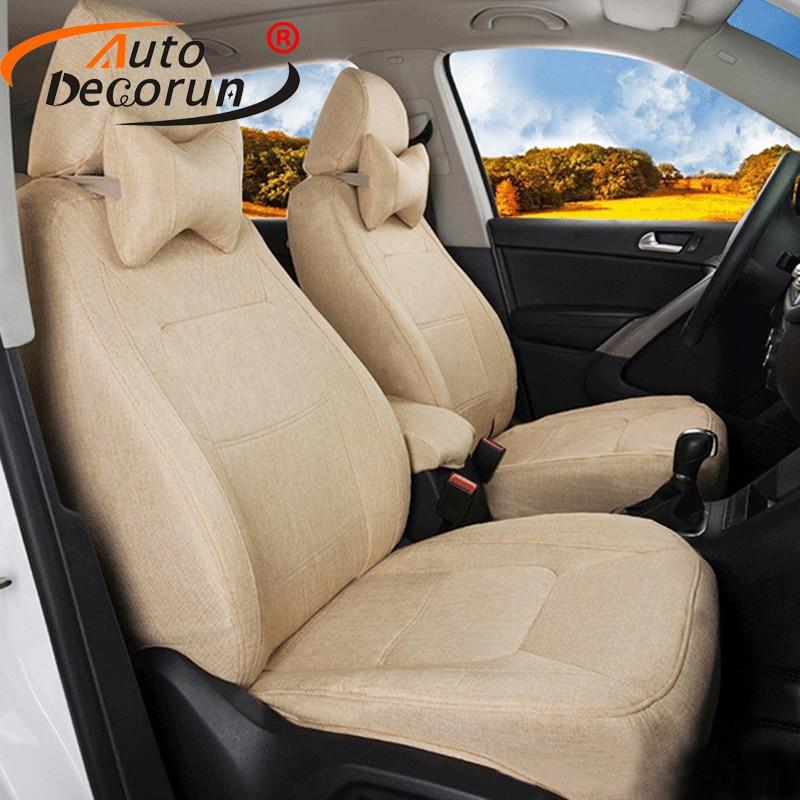 AutoDecorun Custom Fit Covers Sets font b Car b font for Mitsubishi Pajero Sport 2014 Seat