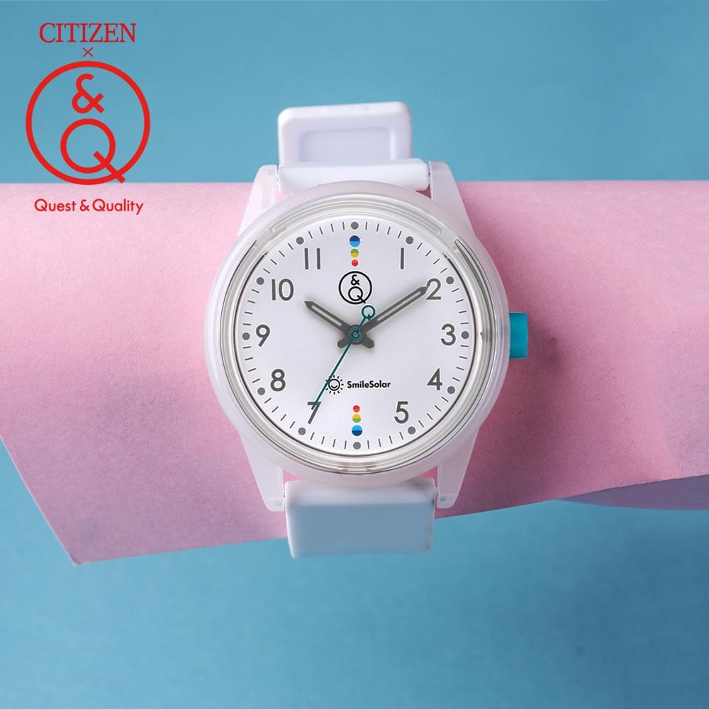 Citoyen Q & Q montre femmes dames cadeau horloge Top marque de luxe étanche Sport Quartz solaire femmes montres neutre montres relogio-in Montres femme from Montres    1
