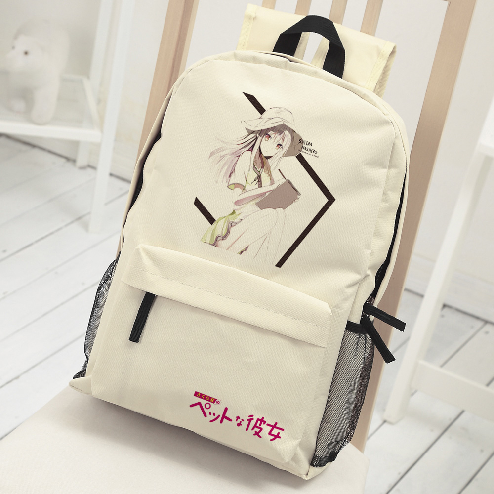 Anime sakura sou no pet na kanojo Cosplay shiina mashiro backpack Anime cartoon middle school student bag shoulder bag backpack anime tokyo ghoul cosplay anime shoulder bag male and female middle school student travel leisure backpack