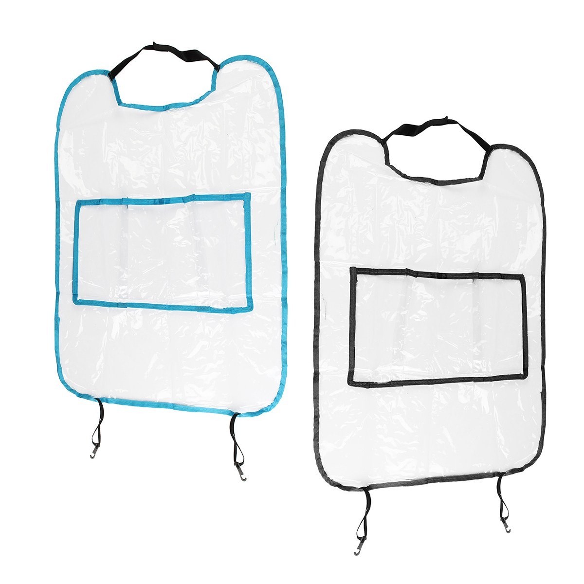 2PCS/pair Car Auto Seat Back & Blue Protector Cleaning Cover Children Baby Kick Mat Storage Bag