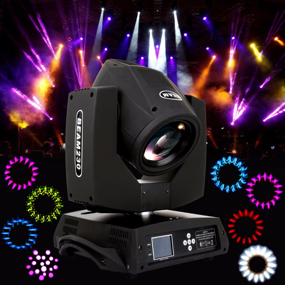 2pcs 230W Osram 7R Moving Head Light Zoom 16 Prism Beam Gobo DMX 16ch Party Stage Lighting