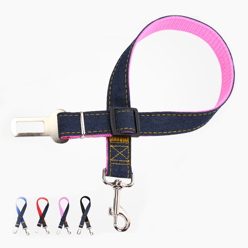 Nylon Leash Dog Car Seat Belts Vehicle Harnesses Pet Leashes Collar For Small Dogs Harness Buckle Traction Rope Pets Supplies