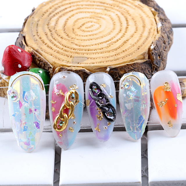 1bags/lot  Sharp End Nail Art Full Cover Oval Stiletto False Fake clear Nails Tips Manicure long Almond Artificial Nails