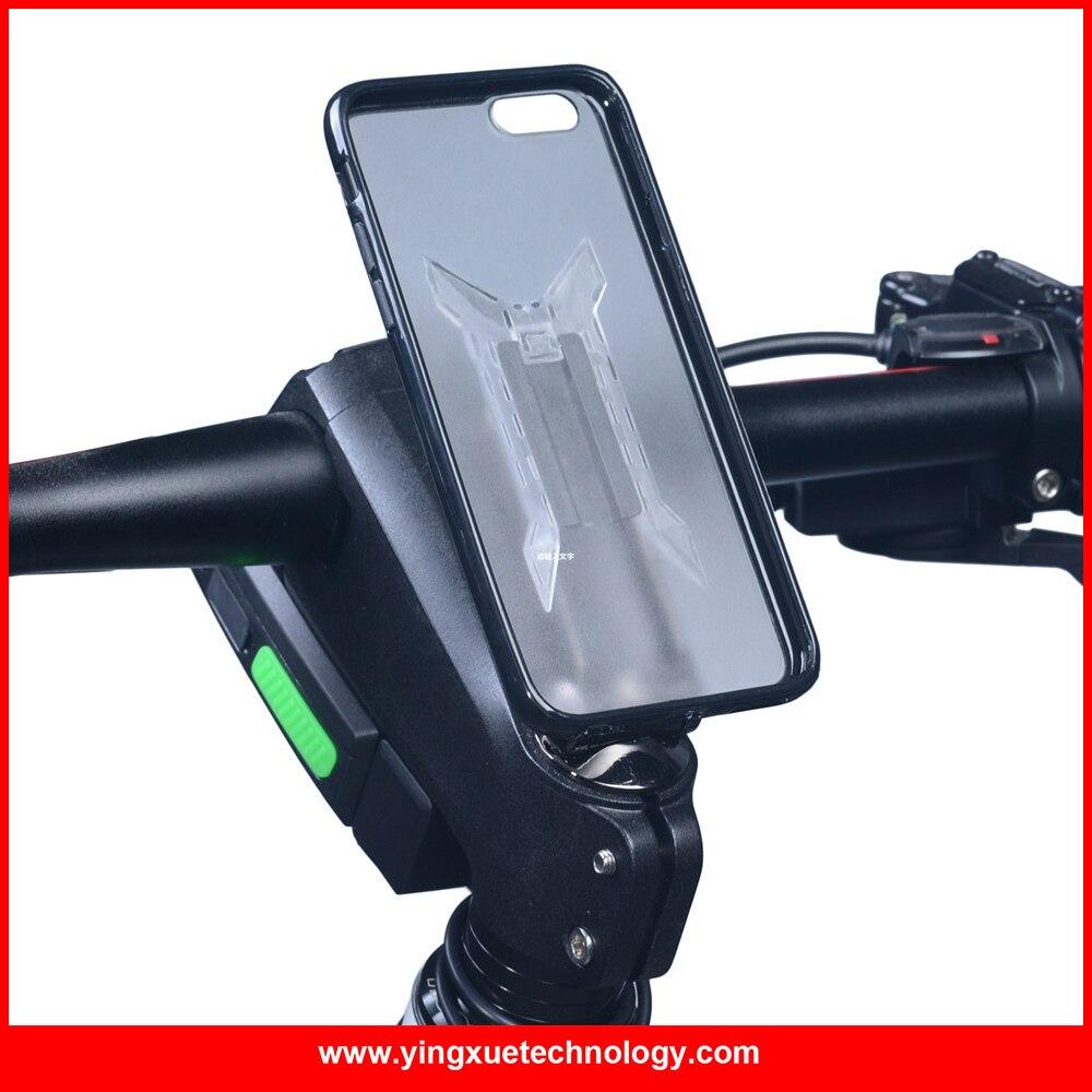 imágenes para Tapa del vástago de la Bicicleta Montan el Sostenedor del teléfono de La Bicicleta Agarre Clip de la Aleación de Aluminio con 3 m cinta clip fit tpu caja de la pc para iphone 5/5s/se/6/6 más