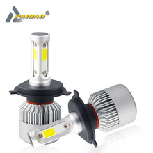 Led H7 H4 S2 COB Car Headlight 12V 72W 8000LM 9005 9006 Light H3 H11 9004 9007 9012 Car Styling lamp 4300K 8000K Combo Bulbs(China)