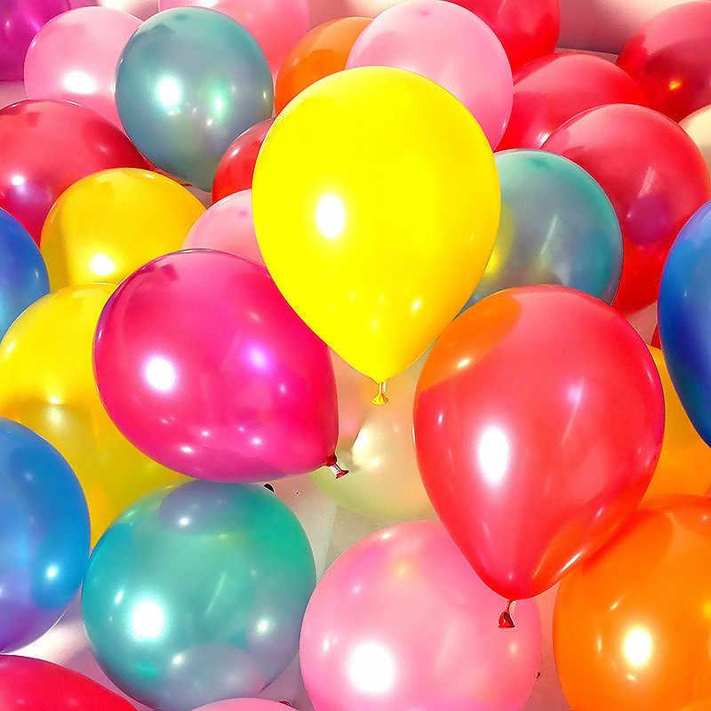 5 Pcs 12 Inch 2.2G Pearl Lateks Balon Merah Hati Bola Udara Pesta Ulang Tahun Balon Dekorasi Pernikahan Balon Helium perlengkapan Pesta