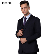 Mens Suit Slim Fit Two Button 3-Piece Blazer Dress Business Office Jacket Vest & Pants