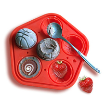 3D 6 Grids Silicone Basketball Mold Ice Tray Frozen Molds Round Reusable Ball Maker Summer Kitchen Bar Accessories