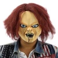 Horror Latex Maske für Kind Spielen Chucky Action-figuren Maskerade Halloween Party Bar Versorgungs Geschenk Vollgesichts