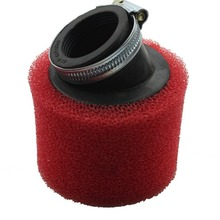 GOOFIT Red 38mm Bent Angled Foam Air Filter Pod PIT Quad Dirt Bike ATV Buggy P091-102