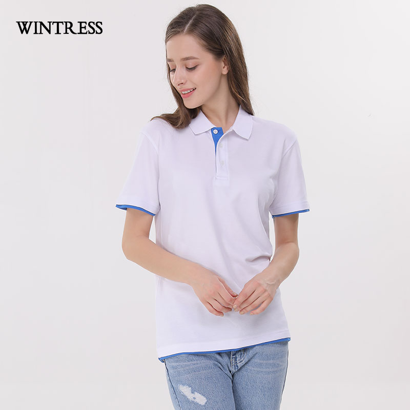 2692937d8c80 WINTRESS Can Custom Pattern Women Polo Shirt Short Sleeve Turn Down Collar  Tee Summer Work Clothes Femme-in Polo Shirts from Women s Clothing    Accessories ...