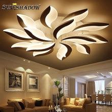 Светодиодный потолочный светильник для гостиной AC110 220 V, акриловая современная люстра, потолочный светильник для спальни, кабинета, кухни, столовой, дома, лампа