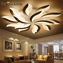 Lámpara LED de techo para sala de estar AC110 220 V, lámpara de acrílico moderna para techo, lámpara para dormitorio, estudio, habitación, cocina, comedor, hogar