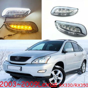 1set LED daytime running lights for car accessories 2003~2009year Lexus RX350 RX330 front fog lamp drl bumper light