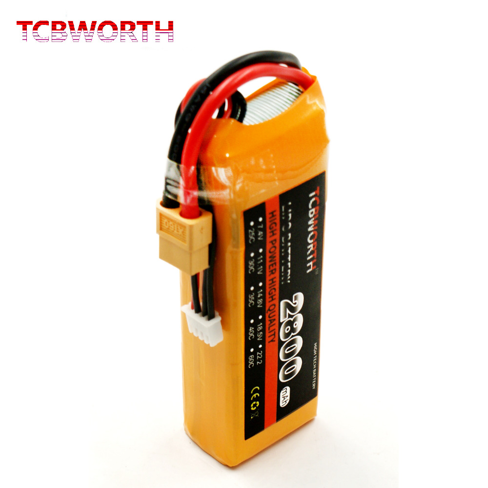 TCBWORTH RC LiPo battery 3S 11.1V 2800mAh 35C-70C For RC Airplane Quadrotor Helicopter High rate cell Li-ion battery mos rc airplane lipo battery 3s 11 1v 5200mah 40c for quadrotor rc boat rc car