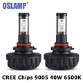 Oslamp 40W 4400LM Auto Car LED Headlight 9005/HB3 CREE Led Chips Headlamp Fog Light Bulb 3000K/4300K/6500K/8000K/10000K