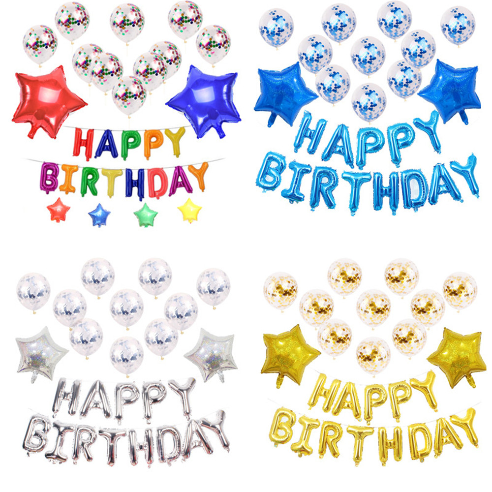 Taoqueen dessin animé chapeau joyeux anniversaire ballon air lettres enfants jouet fête de mariage anniversaire hélium fête ballon chapeau