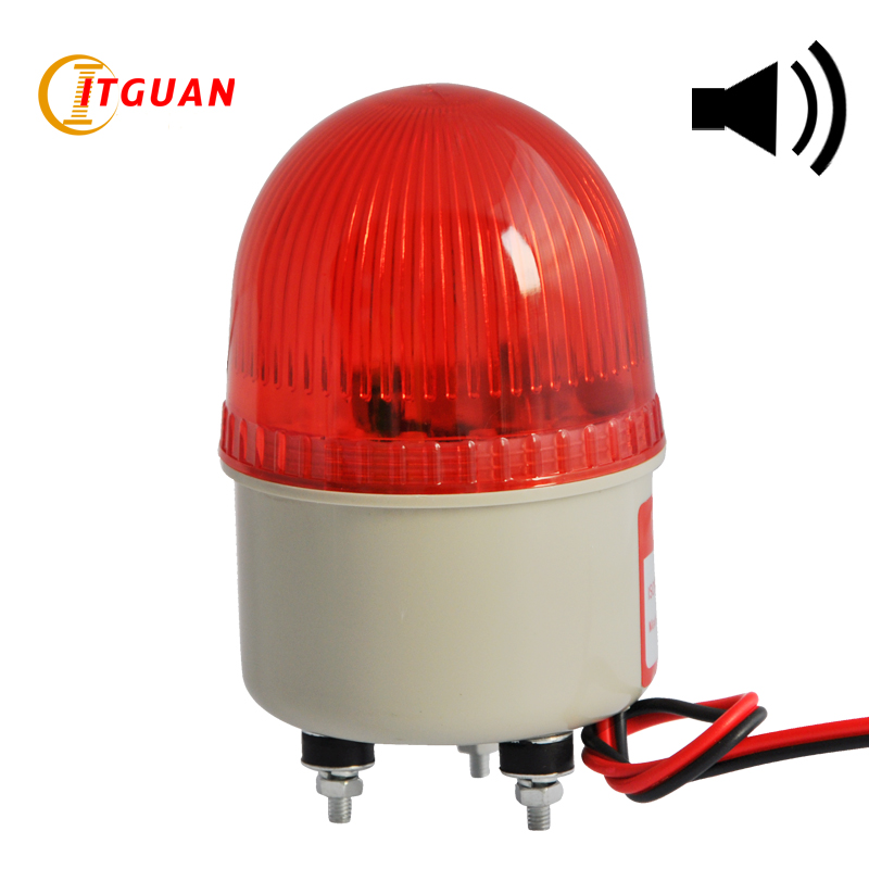 LTE-2071J Incandcent Rotary Warning Light Alarm Bolt Bottom With Buzzer Sound 90dB Mini Emergency Lamp 12V 24V 220V lte 5071j led strobe warning light alarm dc12v 24v ac220v signal emergency lamp with buzzer sound 90db beacon light