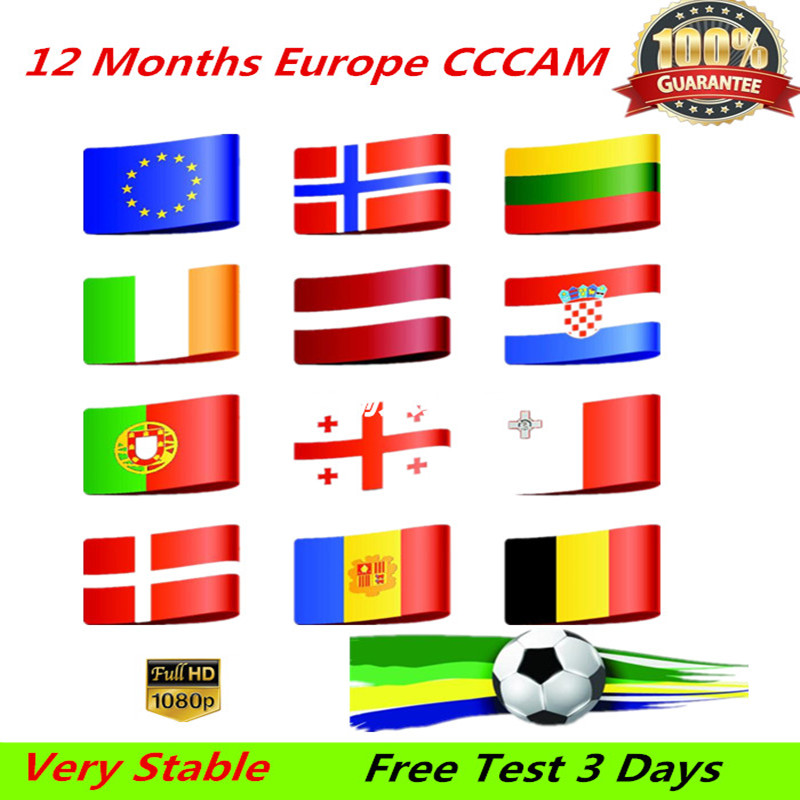 HD 1 Year CCCAM 7 Lines Cline Server Account For Satellite Receiver Spain UK Germany French Italy POLSAT MOVISTAR ES Spain