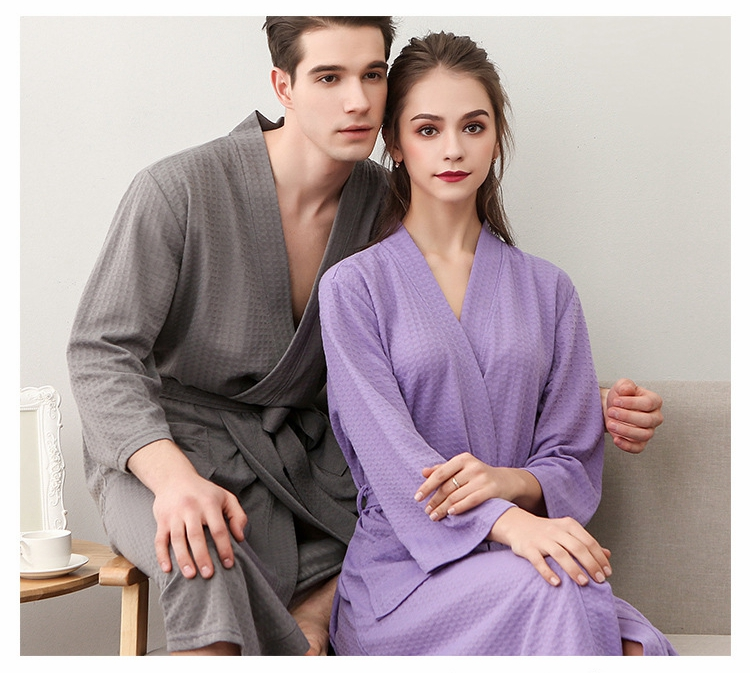 d08c7d9509d 2019 NewBang Brand Lovers Knee Length Suck Sweat Kimono Bath Robe ...