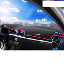 lsrtw2017 polyster car dashboard mat rear window for kia rio 2017 2018 2019 2020 k2