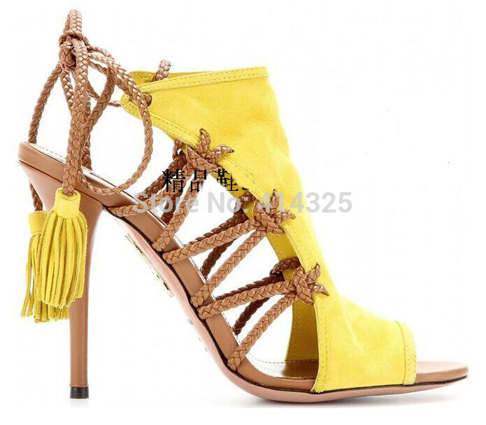 newest open toe lace-up high heel sandals designer cut-outs gladiator sandals thin heels woman shoes 2015 summer sandal hot selling nude leafs decorations sandals high heel summer sexy open toe cut outs dress shoes woman high heel gladiator sandals